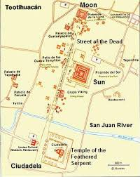 teotihuacan map pre hispanic city of teotihuacan historical facts and pictures