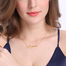 carrie name necklace personalized carrie name necklace 18k gold plated