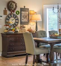 fall decor on my kitchen sideboard and some changes to my gallery