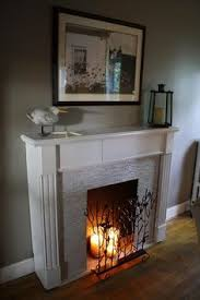 Make A Fireplace Mantel by How To Make A Fake Fireplace Look Real Buscar Con Google