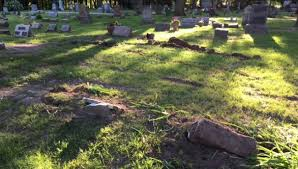 cemetery headstones 1 injured in crash at kent co cemetery headstones damaged