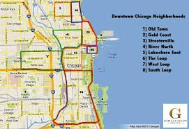 chicago map chicago neighborhoods map