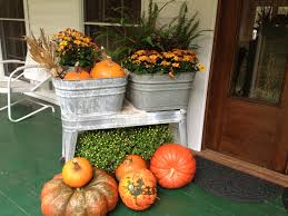 thanksgiving outdoor decorations old wash tubs and stand my front porch pinterest wash tubs