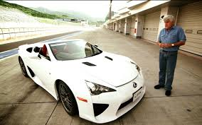 lexus convertible sports car feature flick jay leno takes lexus lfa spyder on the track