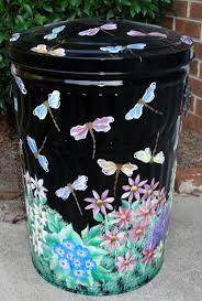 painted metal trash can if i can u0027t find another big basket for