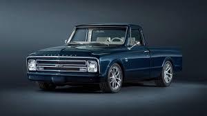 customized truck chevrolet builds 1967 c 10 custom pickup for sema