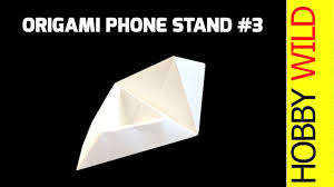 how to make a paper phone stand phone holder design 3 origami