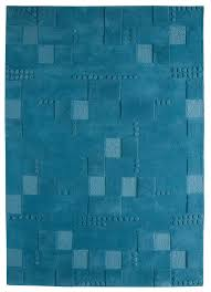 Turquoise Area Rug Miami Collection Hand Tufted Wool Area Rug In Turquoise Design By