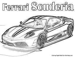 printable car coloring pages 6050 auto coloring scuderia ferrari