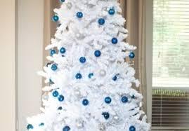 tree decorations blue silver white designcorner