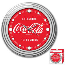 amazon com coca cola chrome clock 12