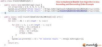Map In Java How To Implement Bubble Sort Algorithm In Java Ascending And