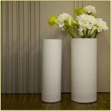 Flowers For Floor Vases Modern Floor Vase In White With Cylinder Design Style Also