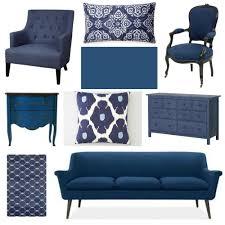 blue furniture decorating with indigo blue