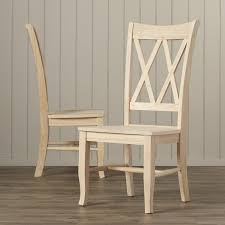 Cross Back Dining Chairs August Grove Toby Cross Back Solid Wood Dining Chair Reviews