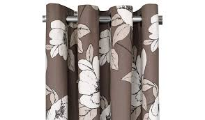 Brown Floral Curtains George Home Mink Floral Print Eyelet Curtain Curtains U0026 Blinds