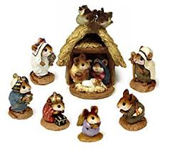 wee forest folk nativity complete set of 8