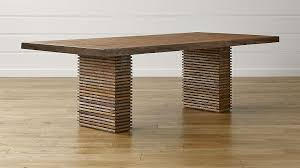 crate and barrel farmhouse table paloma ii reclaimed wood dining table reviews crate and barrel