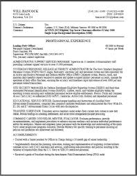Sample Federal Government Resumes by Sample Government Resume Example Of A Federal Government Resume