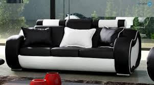 echtleder sofa alaska set 3 2 1 sofa echtleder pu schwarz weiss emoebel24