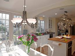 brushed nickel chandelier dining room farmhouse with caned dining