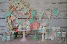 shabby chic garden baby shower home party theme ideas