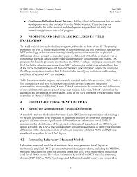 soil report sample executive summary supporting materials for nchrp report 626 page 12