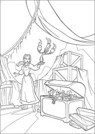 princess belle attic coloring free printable