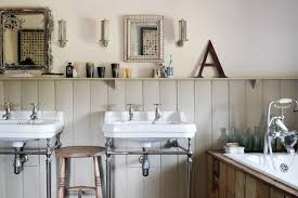 panelled bathroom ideas reclaimed tongue groove panelling industrial sinks