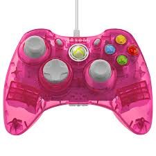 rock candy wired controller for xbox 360 pink palooza