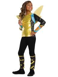 Super Hero Halloween Costumes Dc Superhero Bumblebee Deluxe U0027s Costume Superhero Costumes