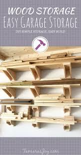 a simple diy garage lumber rack that you can build tamara u0027s joy
