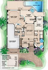 mediterranean home floor plans beachfront designs coastal house plans mediterranean florida