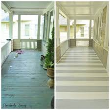 Patio Paint Designs She Saw An Idea On Pinterest And Tried It On Her Porch The Result