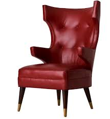 Red Club Chair The Padrino Club Chair Contemporary Traditional Transitional Mid