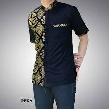 Baju Batik Batik kemeja batik lelaki black gold shopee malaysia