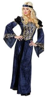 Candy Apple Halloween Costumes Blue Renaissance Bella Hooded Dress Costume Candy Apple