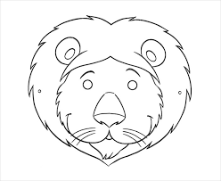 lion mask craft animal mask template animal templates free premium templates