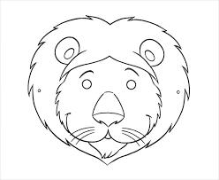 lion mask animal mask template animal templates free premium templates