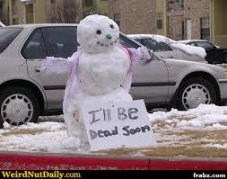 Snowman Meme - dying snowman meme generator captionator caption generator frabz