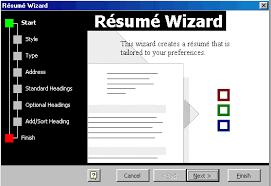 Resume Wizard Microsoft Word Personal Resume