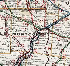 dayton map montgomery county ohio 1901 map dayton oh