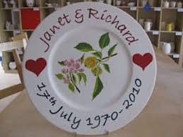 personalized anniversary plate 54 best personalised china plates images on china
