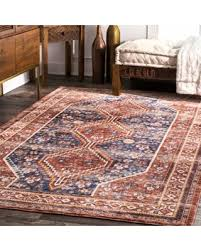 Rust Area Rug Great Deals On Nuloom Rust Vintage Border Medallion Area Rug