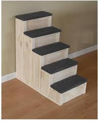 Dog Steps For High Beds 28 Tall 16 Inch Wide Wood 5 Step Dog Or Cat Pet Stairs Anything