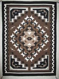Tom Russell Navajo Rug Two Grey Hills Weaving By Larry Nathaniel Medium Size Navajo Rug