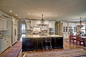 oversized kitchen islands painted kitchen featuring oversized black island traditional