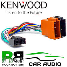 kenwood kmm 264 car radio stereo 16 pin wiring harness loom iso
