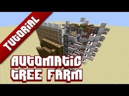 fully automatic tree farm tutorial minecraft