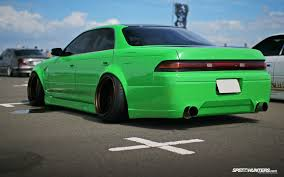 stanced toyota cars toyota mark lowriders tuning suspension stance green